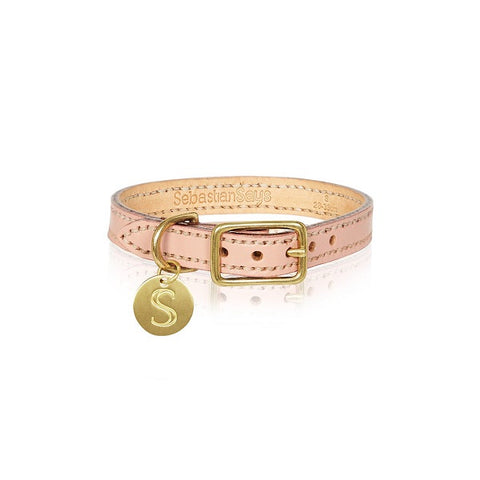Sebastian Says | Collar - Leather Soft Pink