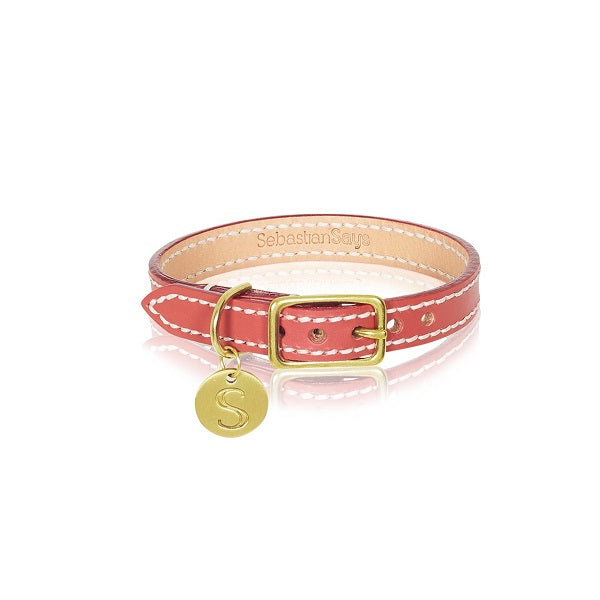 Sebastian Says | Collar - Leather Terracotta Red