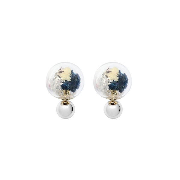 Fantasy Bubble Earrings - Flower Blue