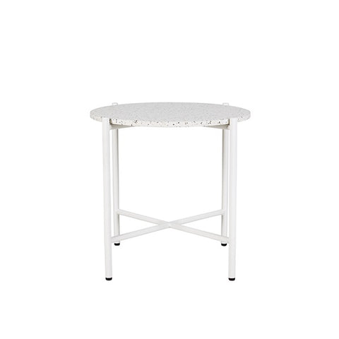 Bijoux Terrazzo Round Side Table Nougat | Furniture