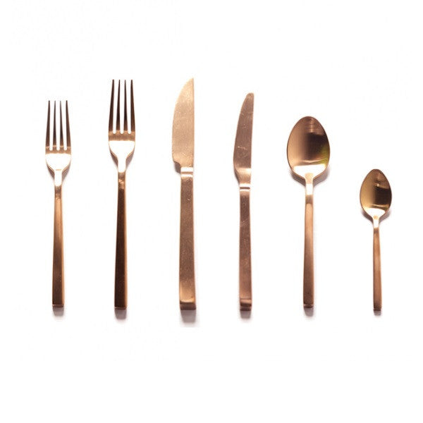 Brushed Cutlery Set Copper | Kitchenware
