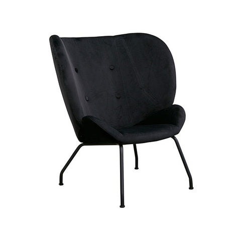 Halo Wingback Armchair Velvet Black | Furniture