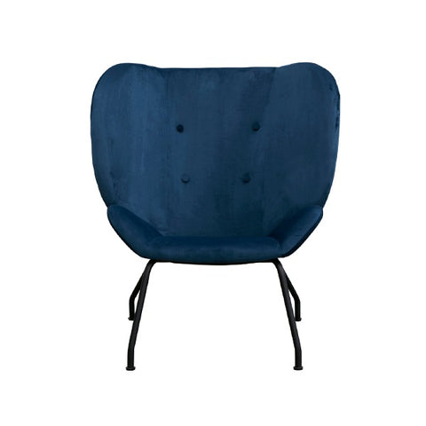 Halo Wingback Armchair Velvet Blue | Furniture