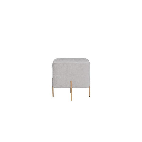 Lucienne Pod Ottoman - Dove | Furniture