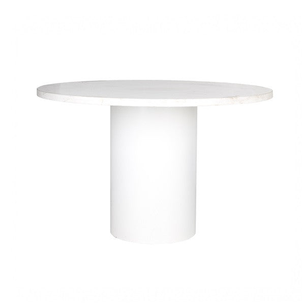 Sphere Dining Table - White Marble | Furniture