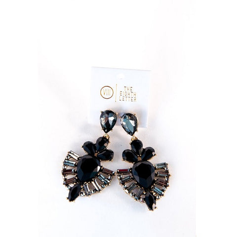 The Eighth Letter | Dame Earring - Black