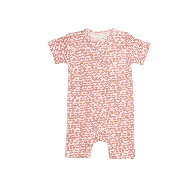 Trixie | Onesie Short Sleeves - Pebble Pink