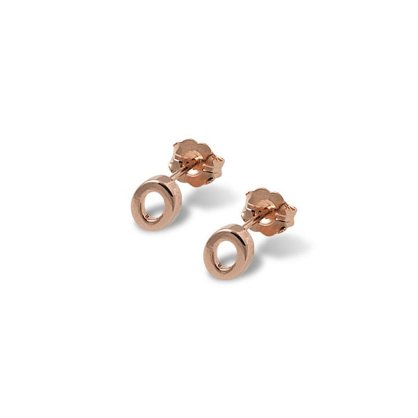 Von Treskow | Open Oval Studs Rose Gold | Jewellery