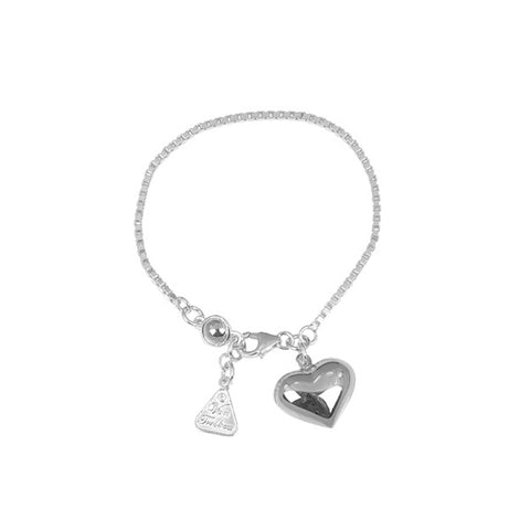 Von Treskow | Box Chain Bracelet with Puffy Heart & Round | Jewellery