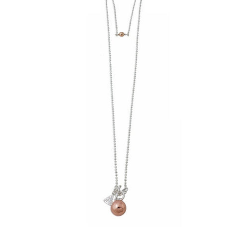 Von Treskow | Ball Chain with Rose Gold Chime Ball Necklace | Jewellery