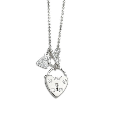 Von Treskow | Ball Chain Heart Padlock Necklace | Jewellery