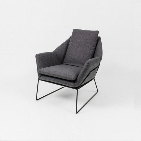 Boden Armchair Grey/Black Frame | Furniture