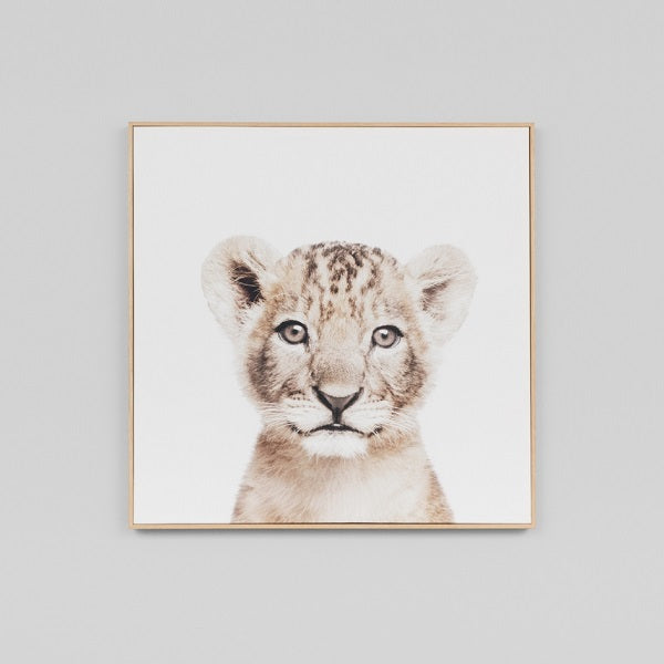 Lovable Cub Natural Canvas | Art