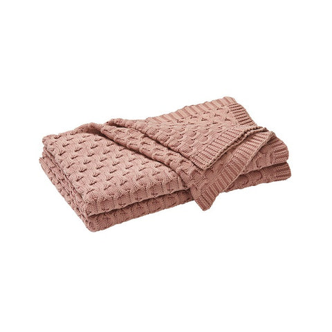 WEAVE | Delaney Throw Rug Cameo Pink