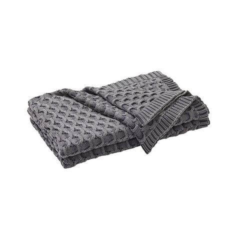 WEAVE | Delaney Throw Rug Monument Grey