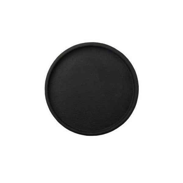 ZAKKIA | Concrete Round Tray Black | Decor