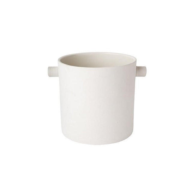 ZAKKIA | Handle Pot Small White | Decor