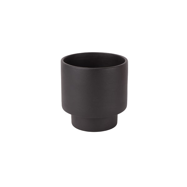 ZAKKIA | Podium Pot Medium Black | Decor