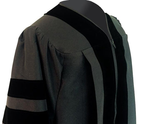 Classic Black Clergy Robe - Churchings