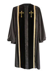 Black Bishop Clergy Robe - Churchings