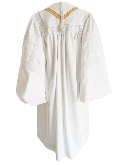 White Bishop Clergy Robe - Churchings