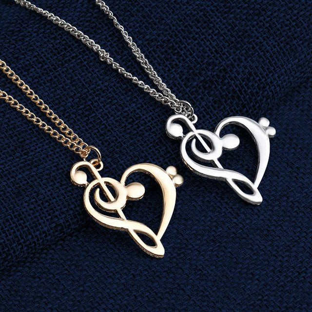 Music Note Pendant & Necklace - Churchings