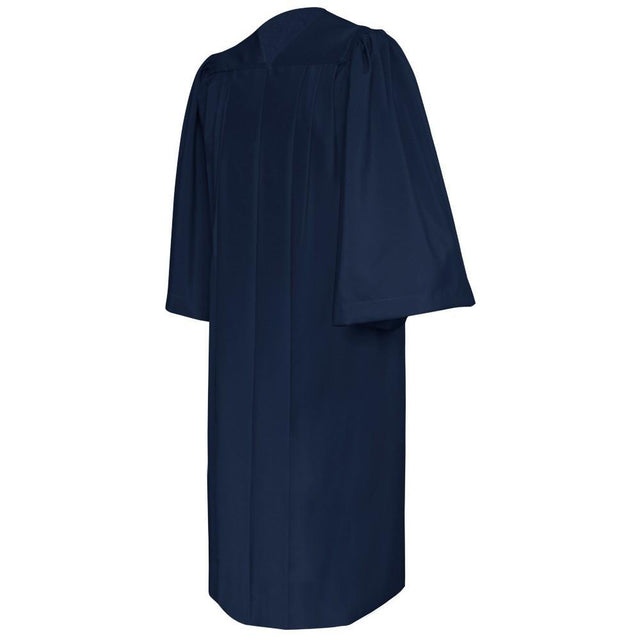 Deluxe Navy Blue Choir Robe - Churchings