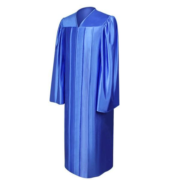 Shiny Royal Blue Choir Robe - Churchings