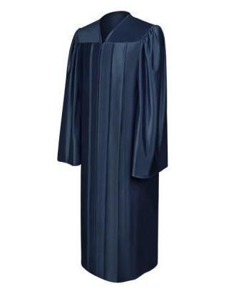 Shiny Navy Blue Choir Robe - Churchings