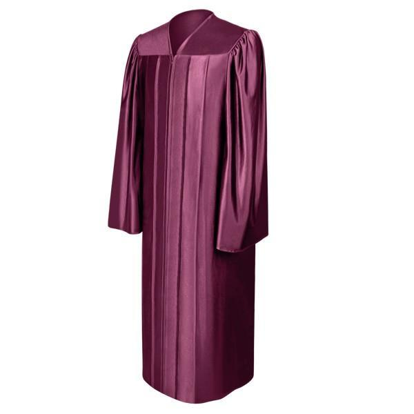 Shiny Maroon Choir Robe - Churchings