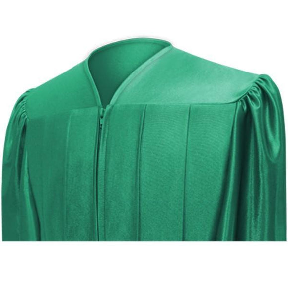 Shiny Emerald Green Choir Robe - Churchings