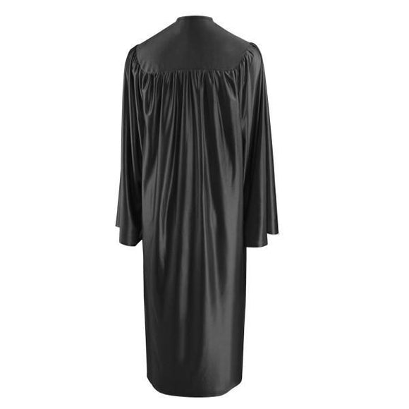 Shiny Black Choir Robe - Churchings