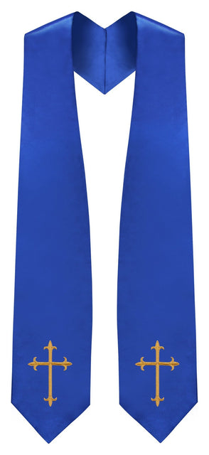 Royal Blue Traditional Choir Stole - Churchings