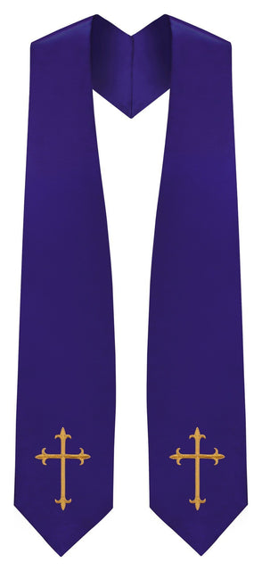 Purple Traditional Choir Stole - Churchings