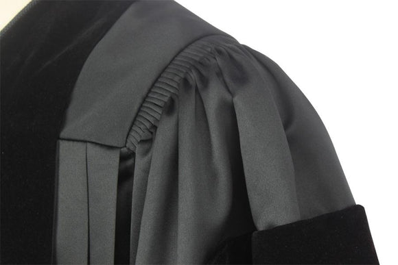 Deluxe Black Pulpit Robe - Churchings