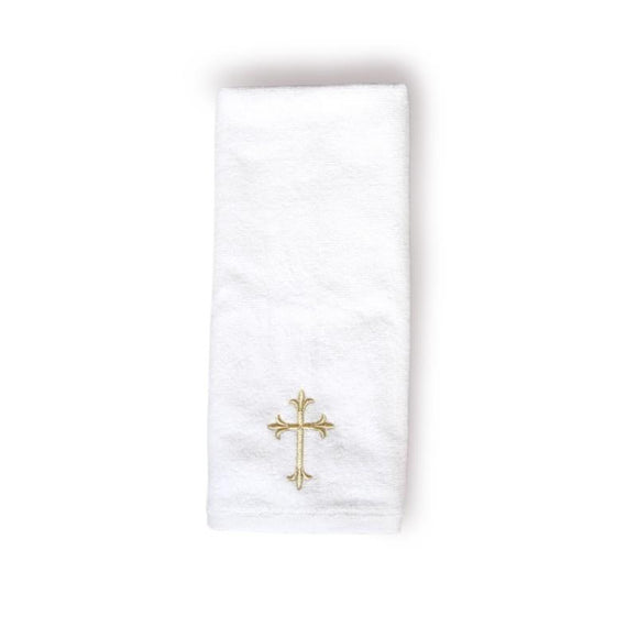 Small Baptism Towel With Cross - Churchings