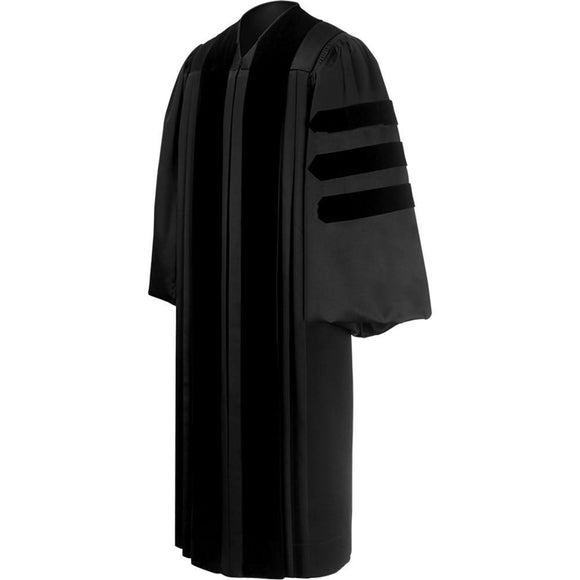 Deluxe Black Clergy Robe - Churchings