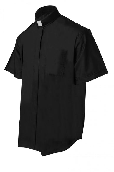 Black Short Sleeve Clergy Shirt - Churchings
