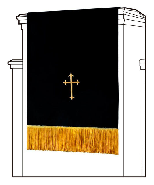 Black/White Pulpit Scarf - Churchings