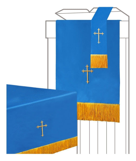 Blue/White Parament 3PC Set - Churchings