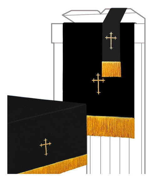 Black/White Parament 3PC Set - Churchings