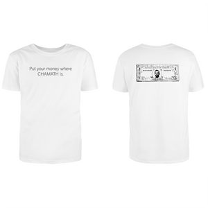Put your money where CHAMATH is. SPAC Bill Combo T-Shirt