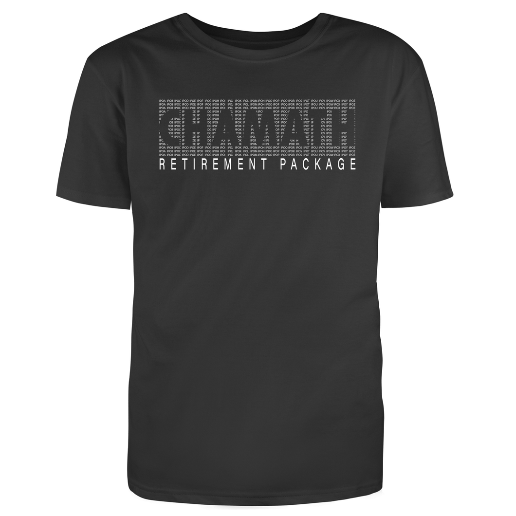 Chamath Retirement Package T-Shirt Horizontal - SPAC Ticker Font