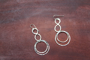 Eight Over Circle Earrings