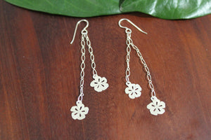Kool Flower with Chain Earrings