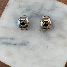 Load image into Gallery viewer, Two Tone Designer Style Gem Stone Earrings