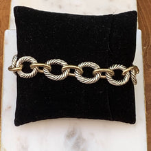 Load image into Gallery viewer, Two-Tone Designer Style Link Bracelet