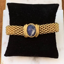Load image into Gallery viewer, Designer Style Lapis Gold Bracelet
