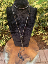 Load image into Gallery viewer, Crystal Beaded and Natural Stone Lariat Necklace