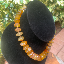 Load image into Gallery viewer, Carnelian Graduated Natural Gemstone Hand Crafted Necklace